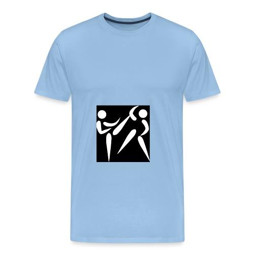 kumite blanc fond noir png - T-shirt Premium Homme
