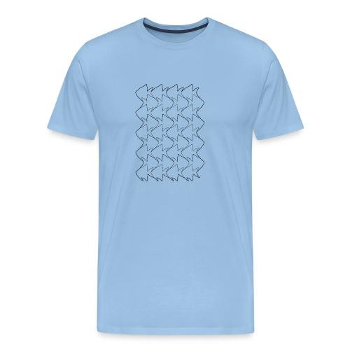 Fish And Birds Art - Mannen Premium T-shirt
