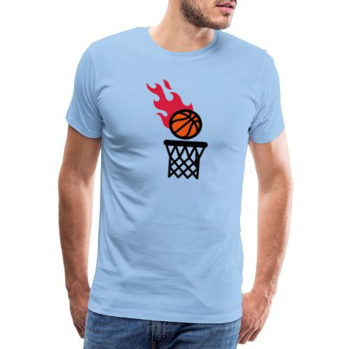 fire basketball - Men's Premium T-Shirt