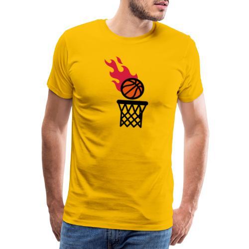 fire basketball - Men's Premium T-Shirt