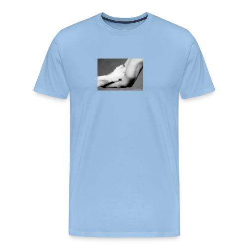 Pfote in Hand - Männer Premium T-Shirt
