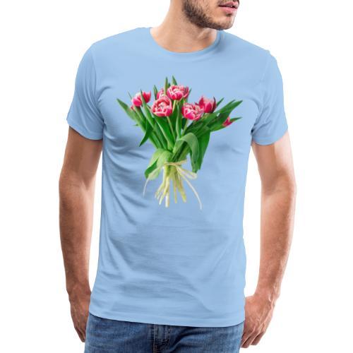 Tulpenstrauss, Flower Bouquet Tulipan - Männer Premium T-Shirt