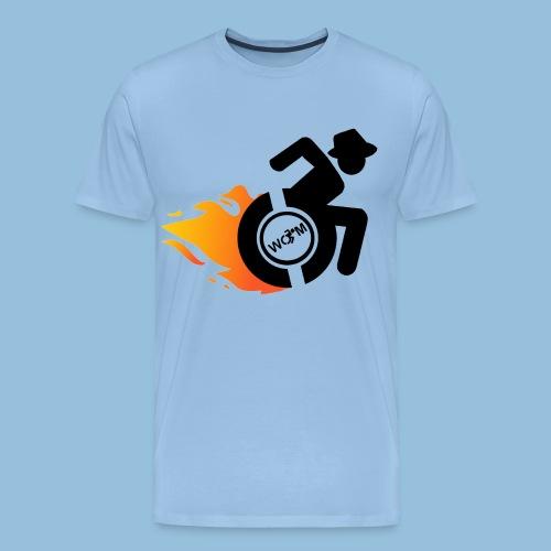 Roller met vlammen 014 - Mannen Premium T-shirt