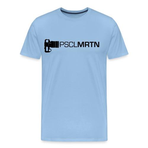 Black on Black with Orange Neck - Männer Premium T-Shirt