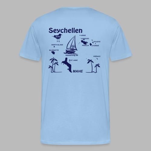 Seychellen Insel Crewshirt Mahe etc. - Männer Premium T-Shirt