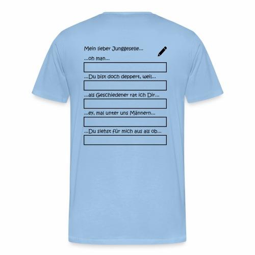 Junggesellenabschied Interaktionsspiel Junggeselle - Männer Premium T-Shirt