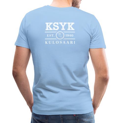 KULOSAARI (WHITE) - Miesten premium t-paita