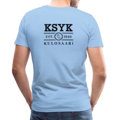 KULOSAARI (BLACK) - Miesten premium t-paita