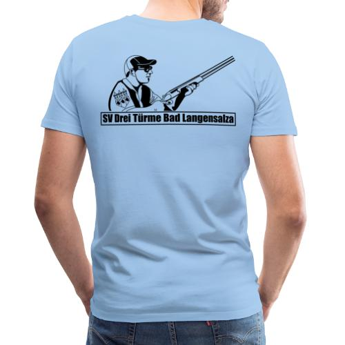 Logo auf dem Rücken - Männer Premium T-Shirt