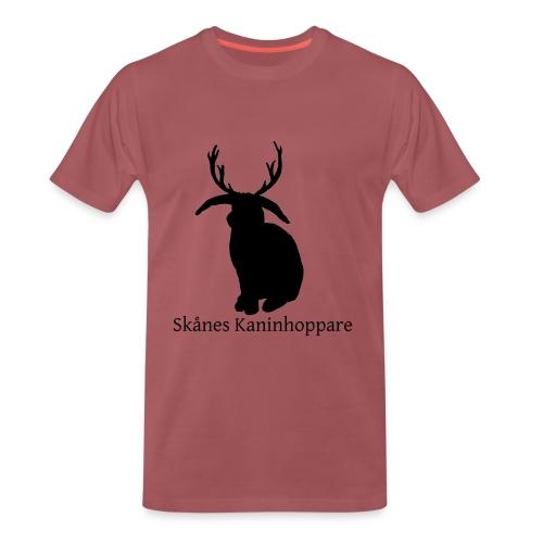 Herr t-shirt - Svart logga - Premium-T-shirt herr