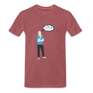 Man i tankar: Fisk - Premium-T-shirt herr