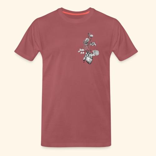 Flower Heart - Männer Premium T-Shirt