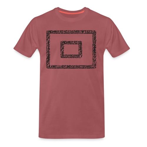 Wegzeichen  10 Min. warten - Stift - Schwarz - Männer Premium T-Shirt