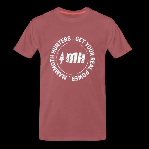 Mammoth Hunters / circular blanco - Camiseta premium hombre