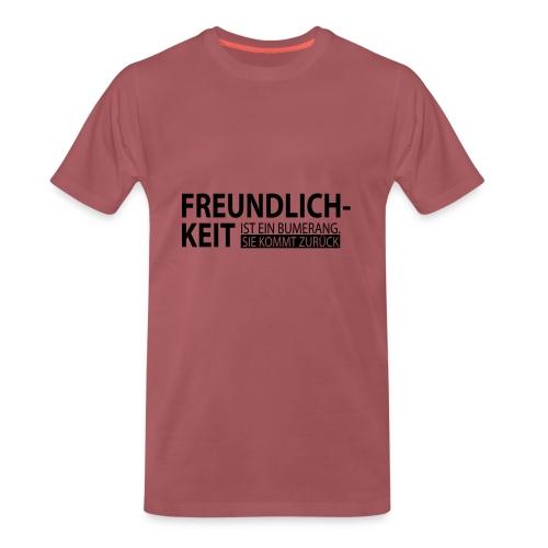 Freundlichkeit - Männer Premium T-Shirt
