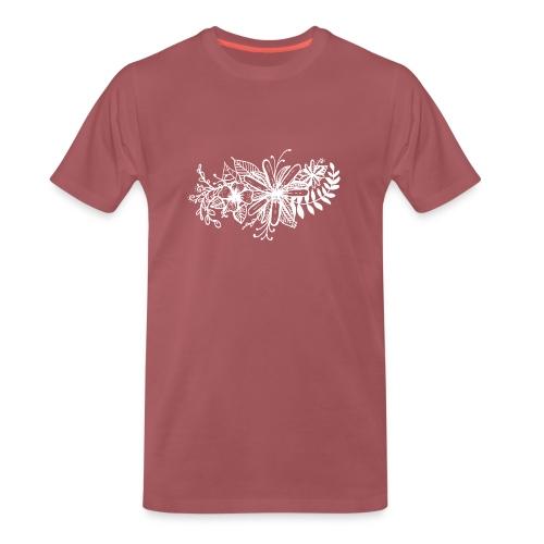 White Flower Artwork - Men's Premium T-Shirt
