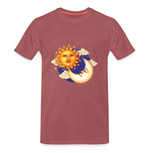 Sun and moon - Mannen Premium T-shirt