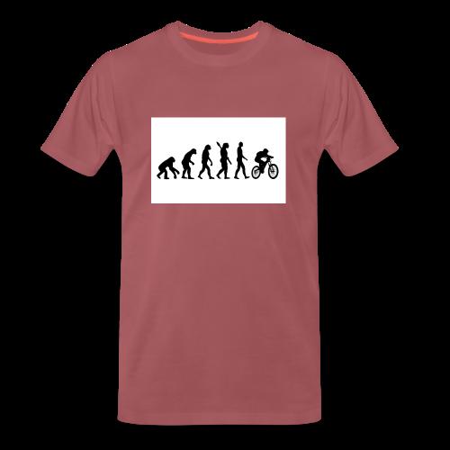 Evolution to Biking - Männer Premium T-Shirt