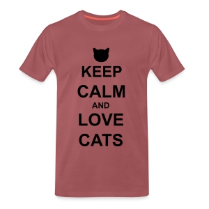 Keep Calm and Love Cats - Black - Men's Premium T-Shirt