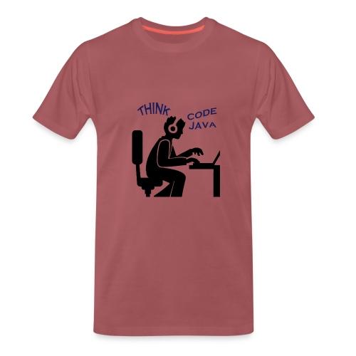 Think Code Java - Premium-T-shirt herr