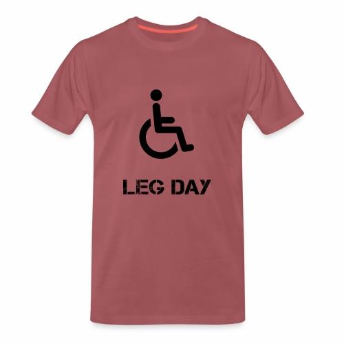 Leg Day Bodybuilding Powerlifting Lifting Gym - Männer Premium T-Shirt