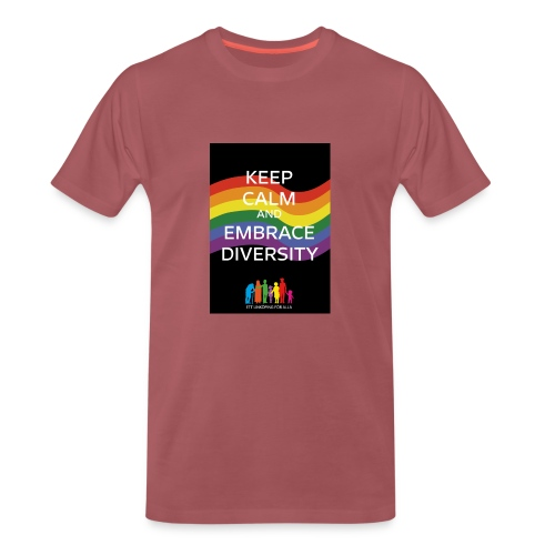 T-shirt, tonåring, embrace diversity - Premium-T-shirt herr