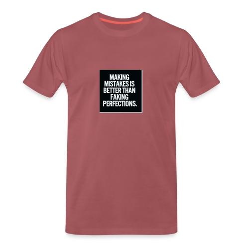 making mistakes - Mannen Premium T-shirt
