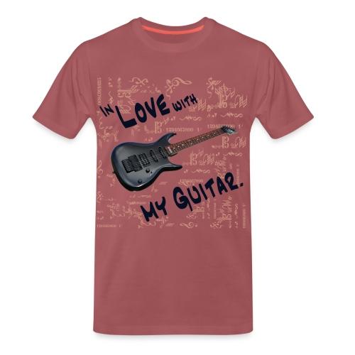 In love with my guitar - Männer Premium T-Shirt