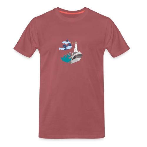 lighthouse - Premium T-skjorte for menn
