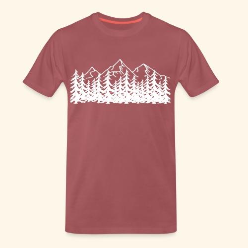 Berge Wälder weiß Mountains Woods - Männer Premium T-Shirt