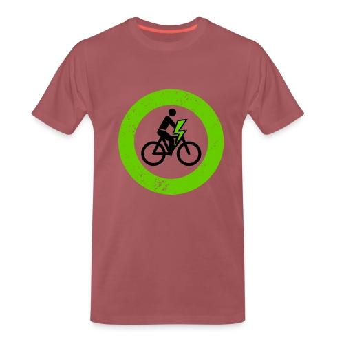 e Bike grün schwarz Schild Logo Emblem - Männer Premium T-Shirt