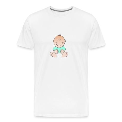 rompertje baby jongen - Mannen Premium T-shirt