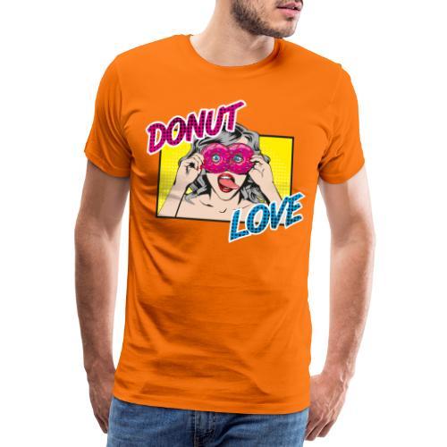 Popart - Donut Love - Zunge - Süßigkeit - Männer Premium T-Shirt