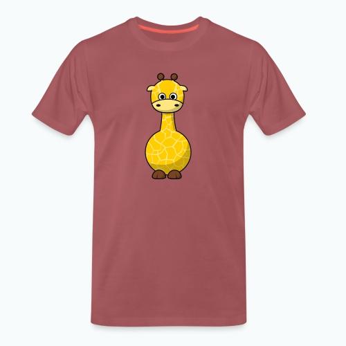 Gigi Giraffe - Appelsin - Premium-T-shirt herr
