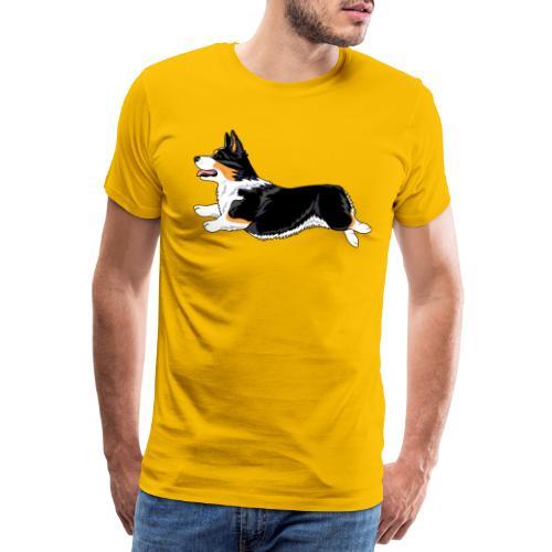 Welshcorgi2 - Miesten premium t-paita