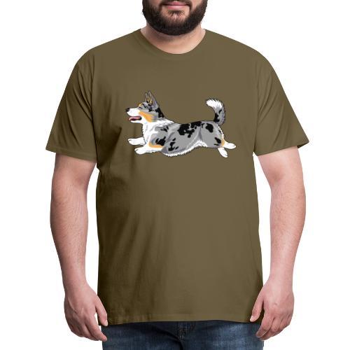 Welshcorgi5 - Miesten premium t-paita