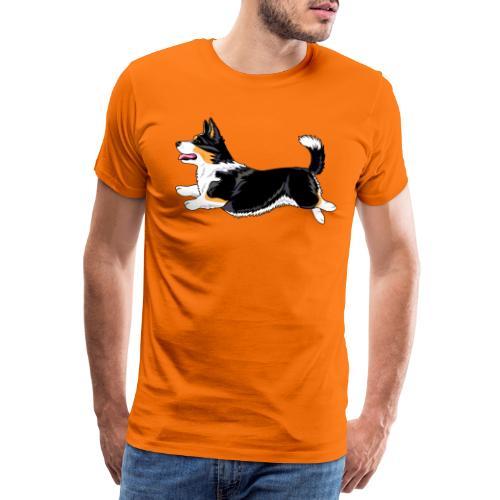 Welshcorgi6 - Miesten premium t-paita