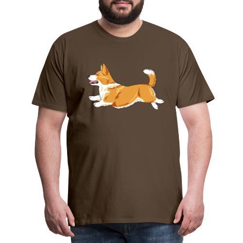 Welshcorgi3 - Miesten premium t-paita