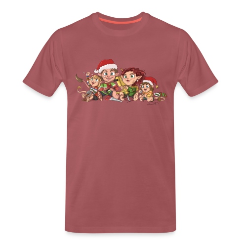 rickgoblinfamily xmas transparent - Men's Premium T-Shirt
