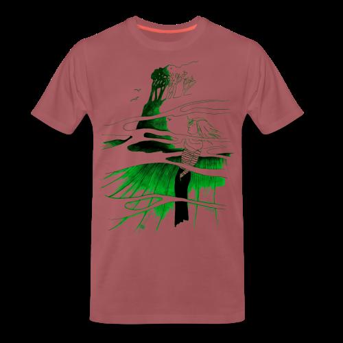 Ein Ort (grün) - Männer Premium T-Shirt