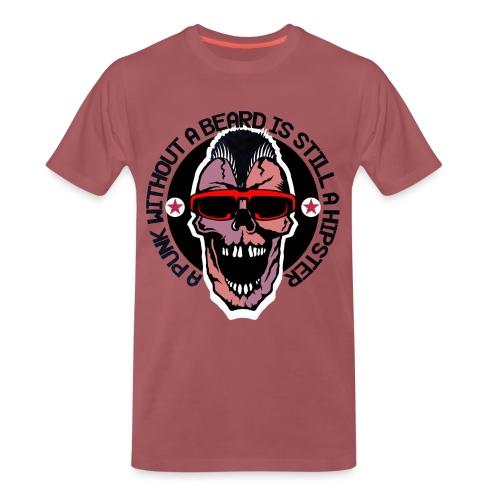 tete de mort hipster punk citation humour crane sk - T-shirt Premium Homme