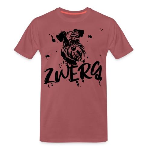 Zwergschnauzer / Schnauzer - Comic Design Geschenk - Männer Premium T-Shirt