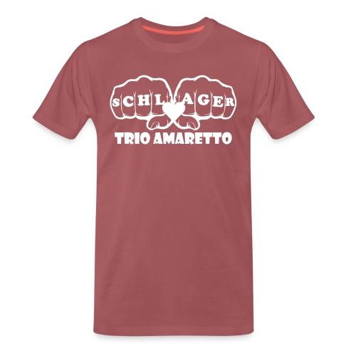 White Print Trio Amaretto - Männer Premium T-Shirt