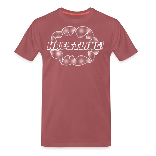 WrestlingWhite png - Men's Premium T-Shirt