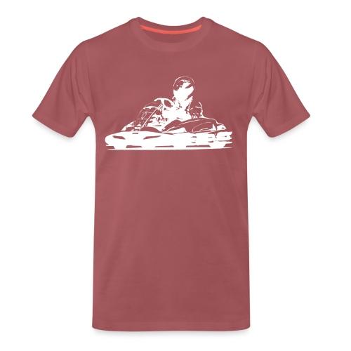 RKC Kart Silhouette in White - Men's Premium T-Shirt
