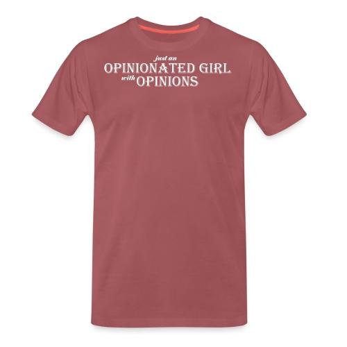 Opinionated girl white - Premium-T-shirt herr