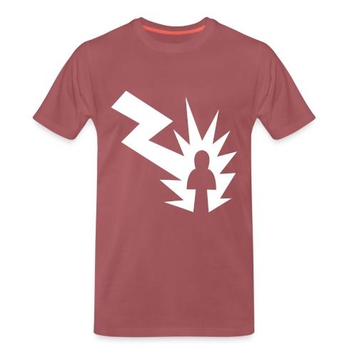 shock white png - Männer Premium T-Shirt