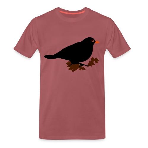 koltrast - Premium-T-shirt herr