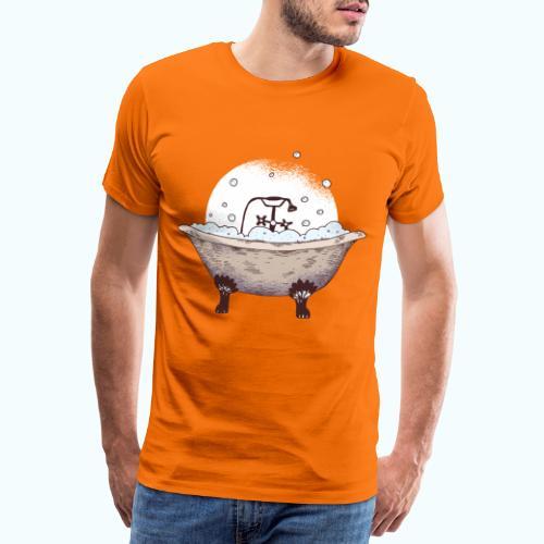Vintage Badewanne Zeichnung - Men's Premium T-Shirt