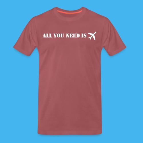 all you need flugzeug - Männer Premium T-Shirt
